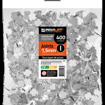Sachet de 400 croisillons autonivelants PAVILIFT 1.5mm en I