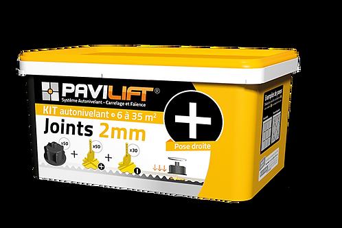 Kit croisillons autonivelants PAVILIFT pose de carrelage joint 2mm +