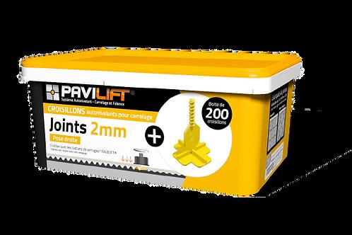 Boite de 200 croisillons autonivelants PAVILIFT 2mm en +