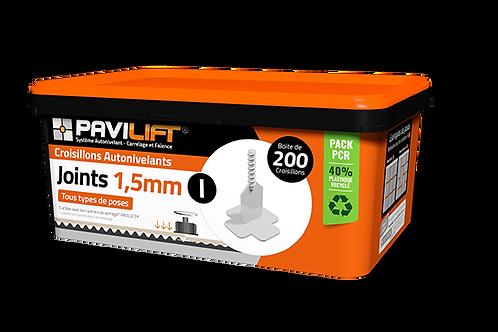 Boite de 200 croisillons autonivelants PAVILIFT 1.5mm en I