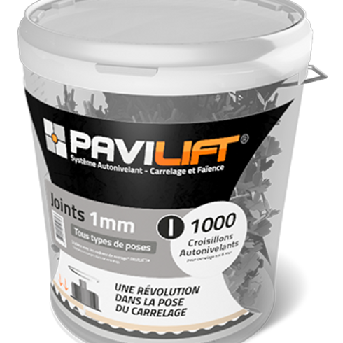 Seau de 1000 croisillons autonivelants PAVILIFT 1mm en I