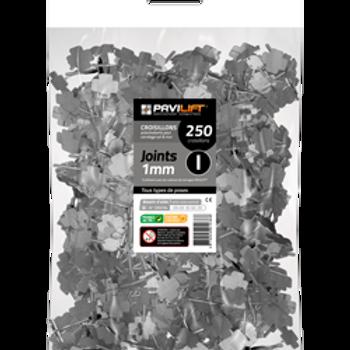 Sachet de 250 croisillons autonivelants PAVILIFT 1mm en I