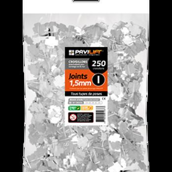 Sachet de 250 croisillons autonivelants PAVILIFT 1.5mm en I