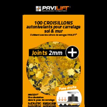 Sachet de 100 croisillons autonivelants PAVILIFT 2mm en +