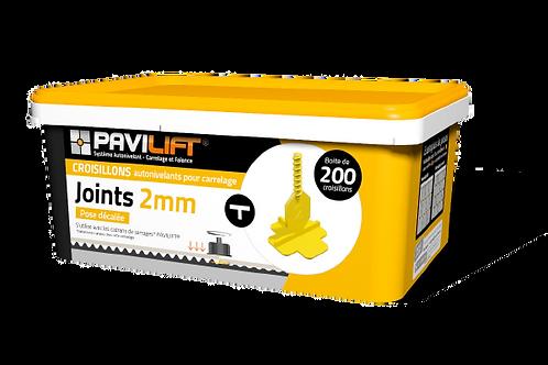 Boite de 200 croisillons autonivelants PAVILIFT 2mm en T