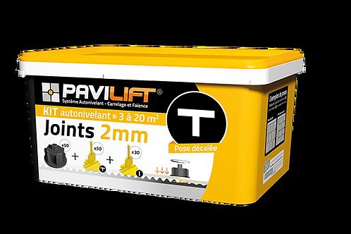 Kit croisillons autonivelants PAVILIFT pose de carrelage joint 2mm T
