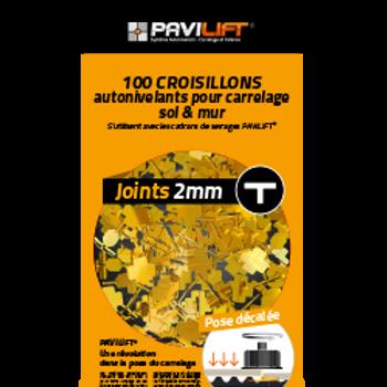 Sachet de 100 croisillons autonivelants PAVILIFT 2mm en T