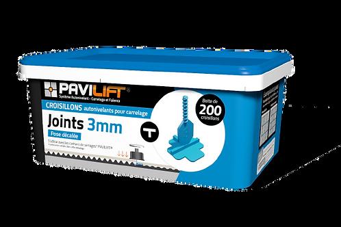 Boite de 200 croisillons autonivelants PAVILIFT 3mm en T