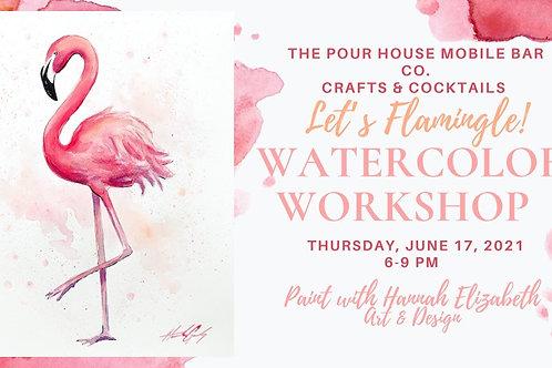 Let's Flamingle ! Paint Party Ft. Hannah Gandy