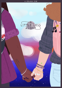 a little less alone: a zolana zine cover