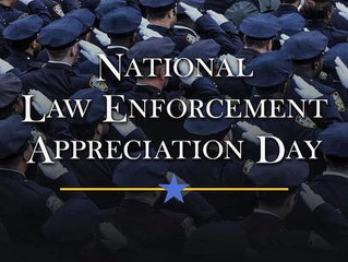 Today, January 9, 2019 is Law Enforcement Appreciation Day. Say thank you to a Law Enforcement offic