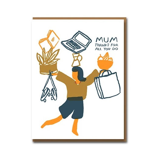 Mum Thanks For All You Do Card