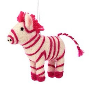 Felt Pink Zebra