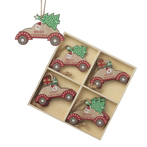Wooden Car Tree Decorations
