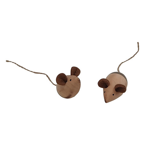 Wooden Mice | Set of 2