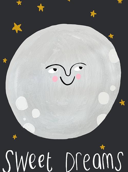 Moon Sweet Dreams | A3 Print
