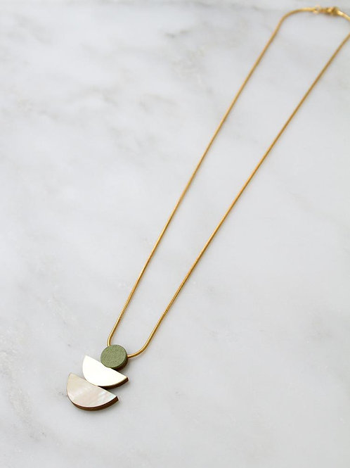 Selene Necklace Pistachio or Blush
