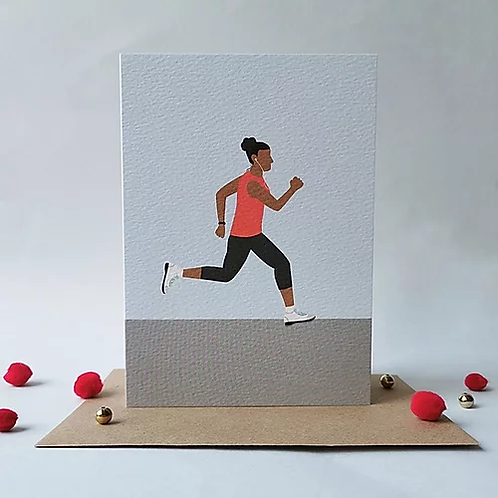 Running Women Card