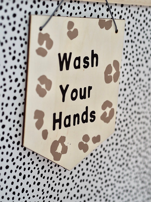 Hanging Banner | Wash Hands or Mad House