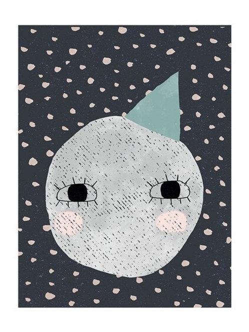 Cute Moon A3 Print