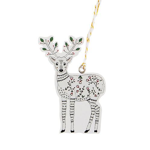 Deer Christmas Gift Tags | Set of 6