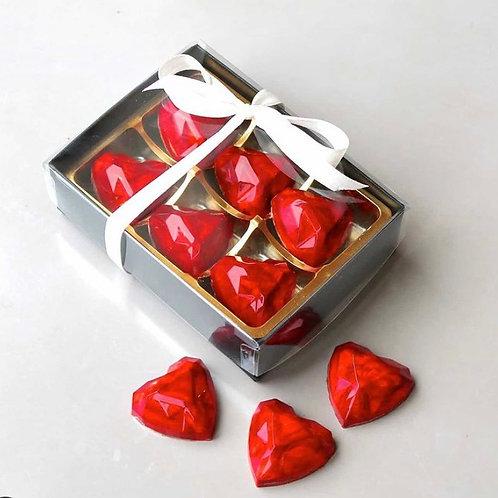 Box of 6 Heart Shaped Luxury Handcrafted Vanilla Truffles