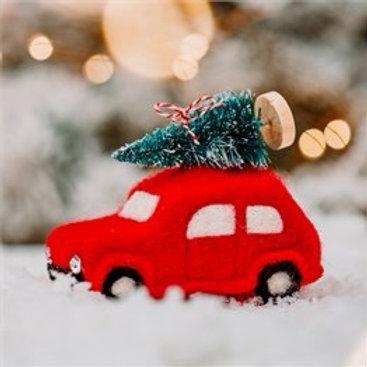 Felt Christmas Tree Car