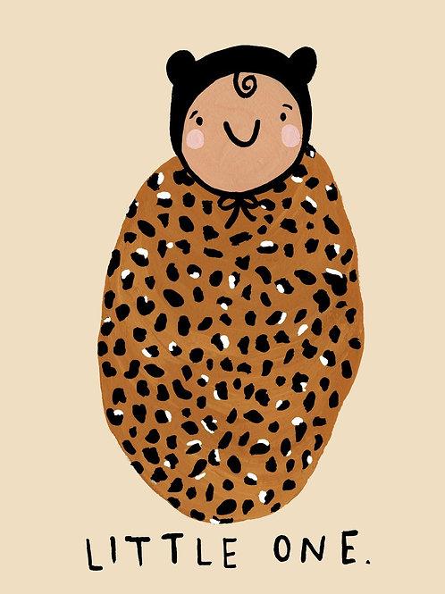 Leopard Print Baby Card