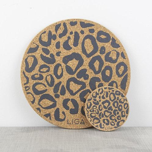 Cork Leopard Print Placemat
