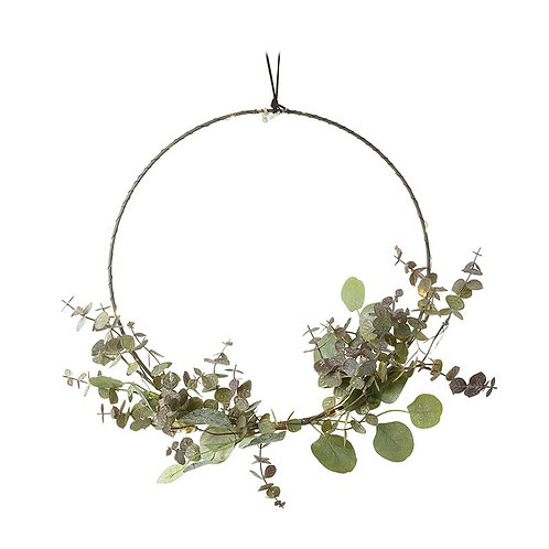 Light Up Hoop with Green Leaves