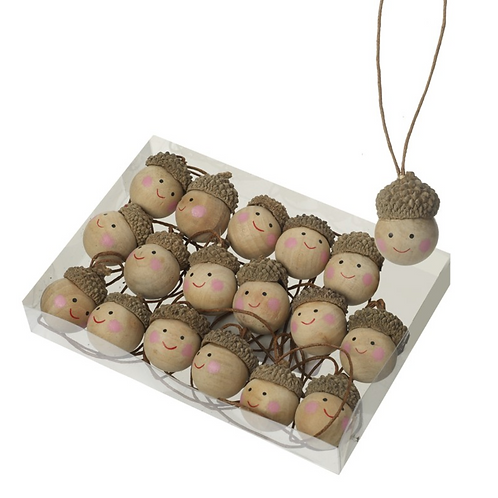 Smiling Acorns Tree Decorations