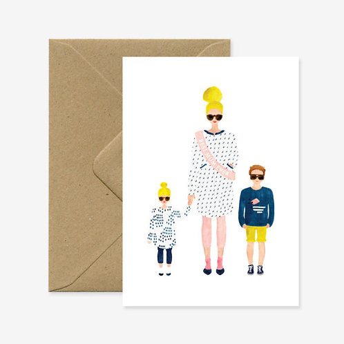 Mum and Kids Card