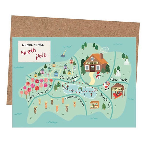North Pole Christmas Card