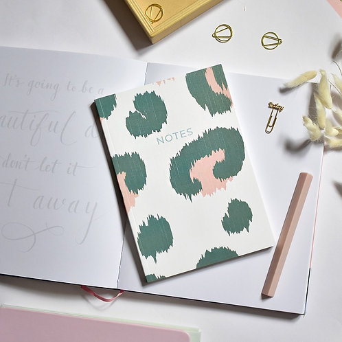 A5 Notebook | Green Leopard