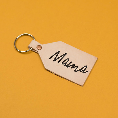 Mama Leather Nude Keying With Black Lettering