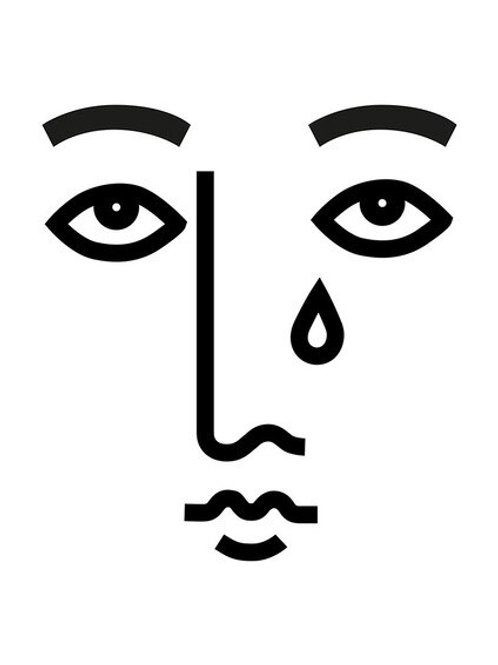 Sad Face A3 Print