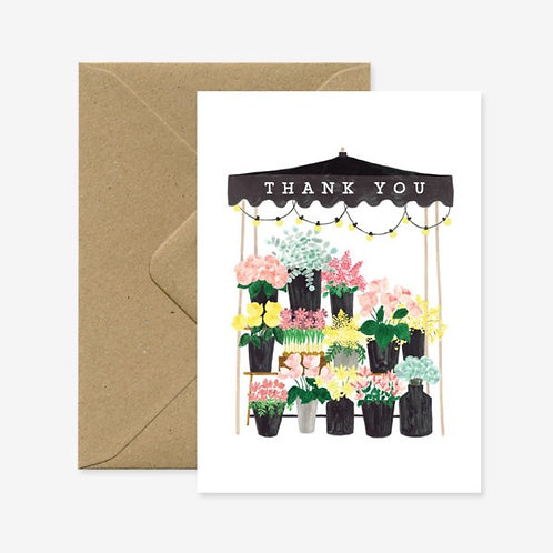 Thank You Flower Stall Card