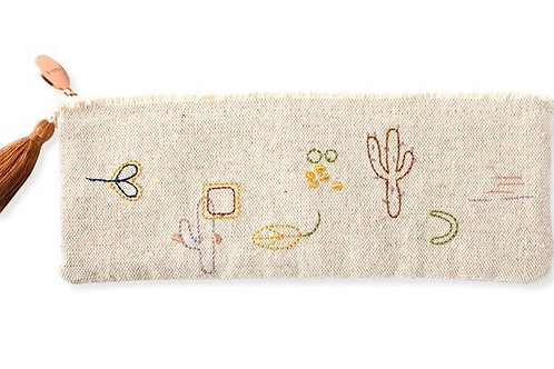 Stitched Cactus Pouch