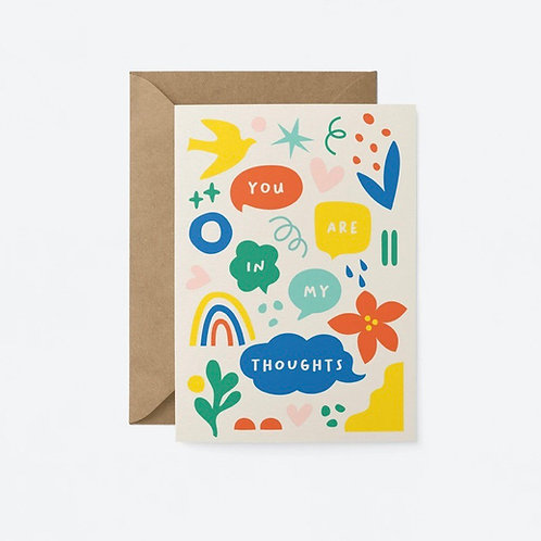 You Are In My Thoughts Card