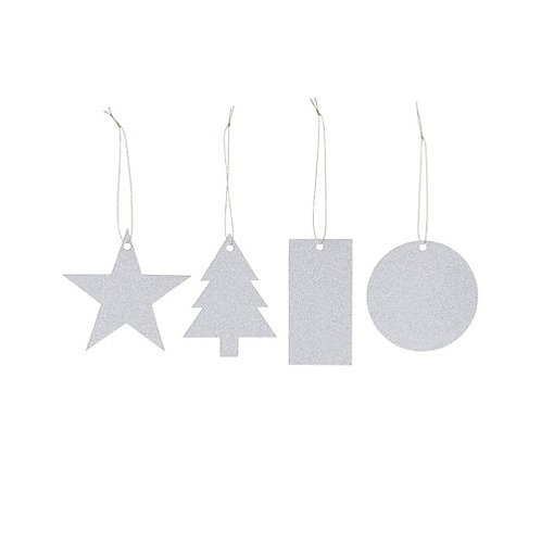 Glitter Gift Tags | Silver