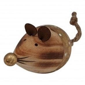 Wooden Mouse Decoration
