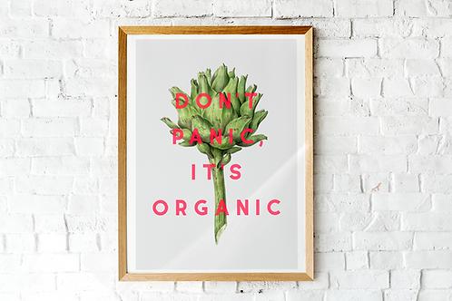 Don't Panic It's Organic | A5 Print