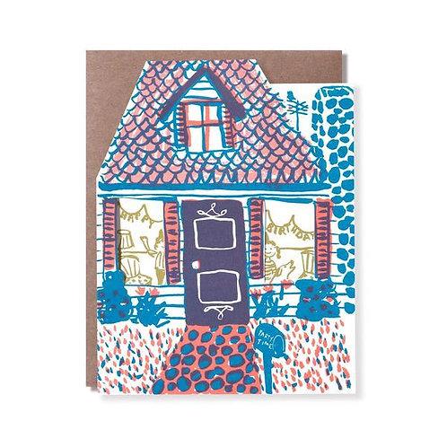 Happy Birthday House Diecut Card
