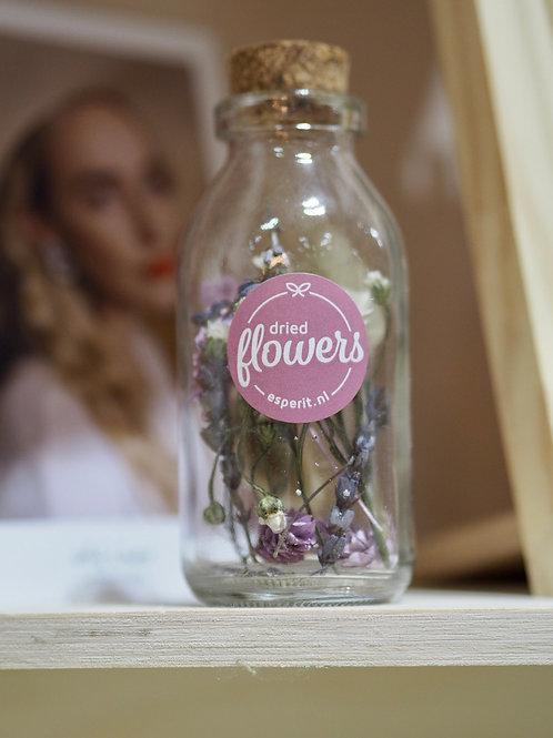 Dried Flower Cork Lid Jar
