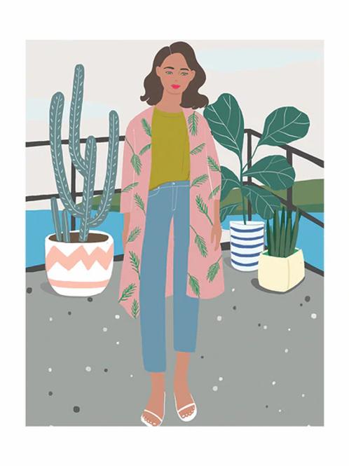 Plant Fashion Lady | A3 Print