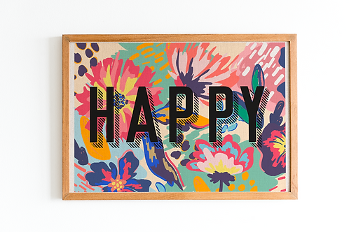 Floral Happy | A5 Print