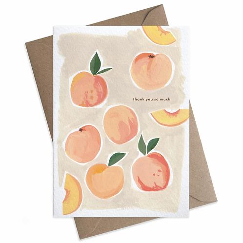 Peaches Thank You Card