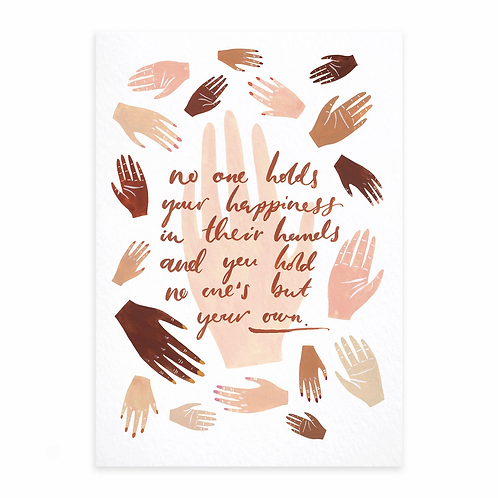 Hands   A4 Print