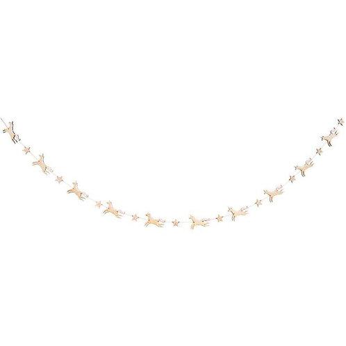 Wooden Glitter Unicorn Garland
