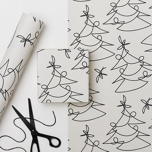 1x Sheet Luxury graphic Christmas Wrap